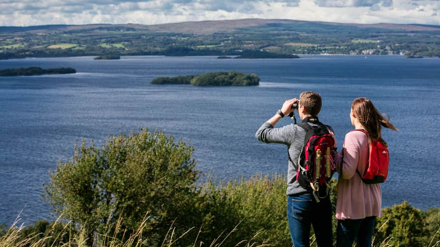 Enjoy amazing views all along the Lough Derg Way.