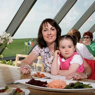 Mother and Daughter dining at Cliffs View Cafe