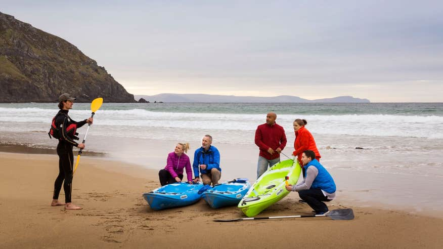 Learn how to kayak during your stay in Dingle.