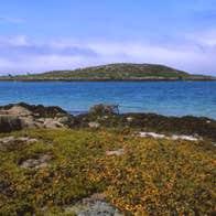 Scenic view of Inishturk Island from Eyrephort, Connemara