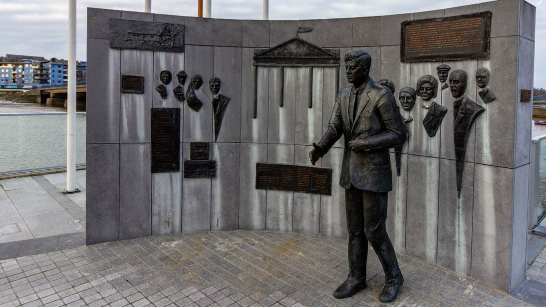 The John F Kennedy memorial on the banks of the River Barrow in New Ross, Wexford