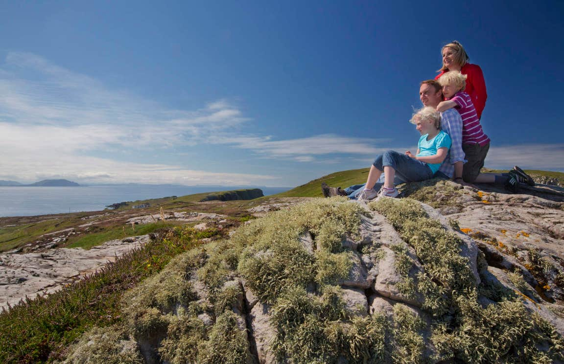 Family at Malin Head, County Donegal
