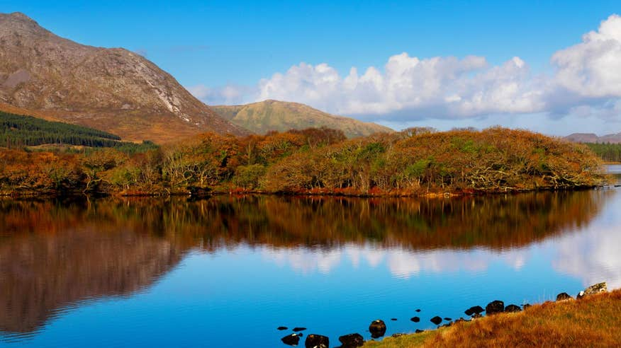 Surround yourself in tranquillity as you fish at Lough Inagh.