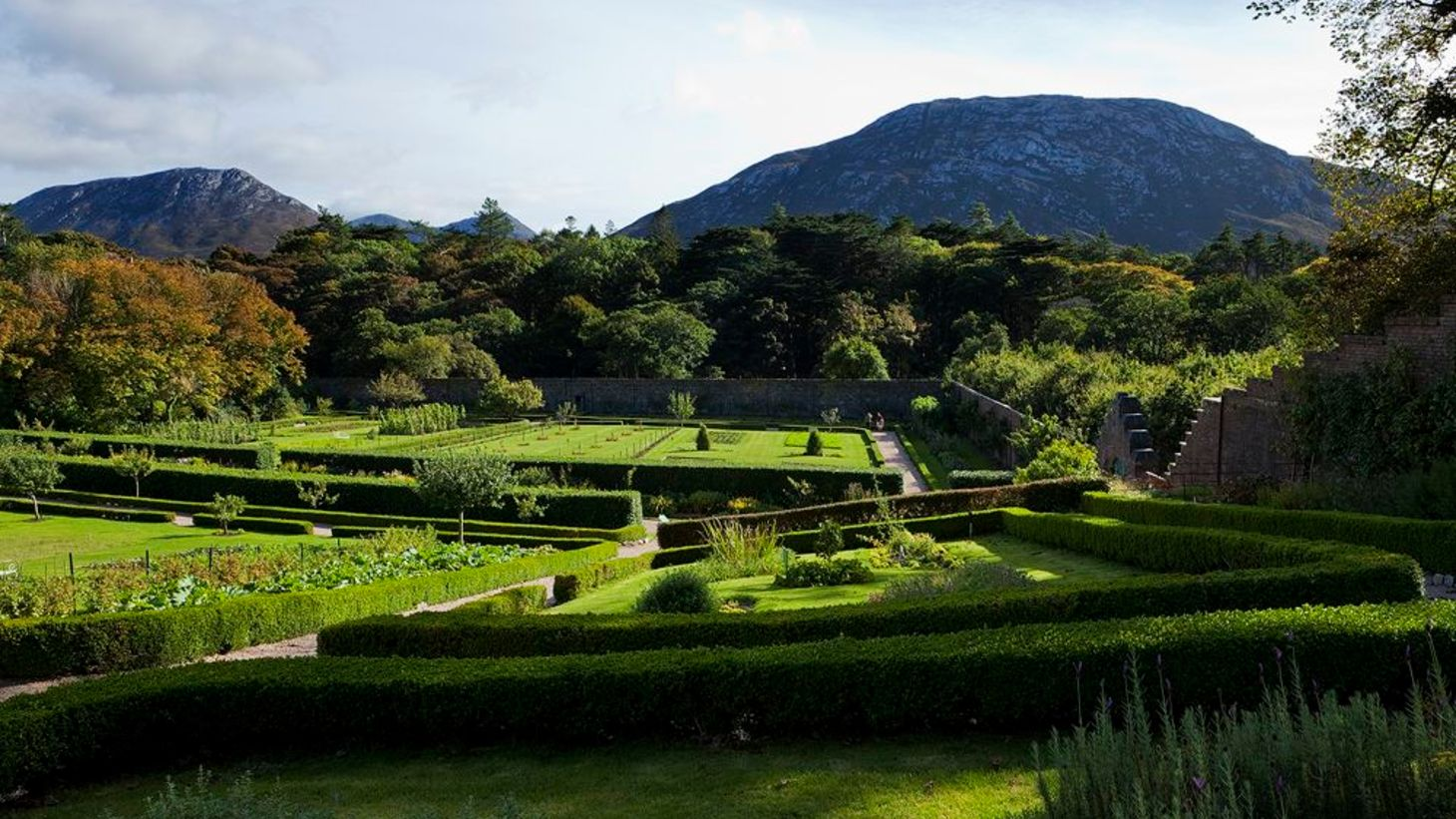 The majestic gardens of Kylemore Abbey in beautiful Connemara.