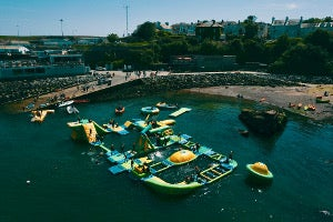 Inflatable water adventure circuit