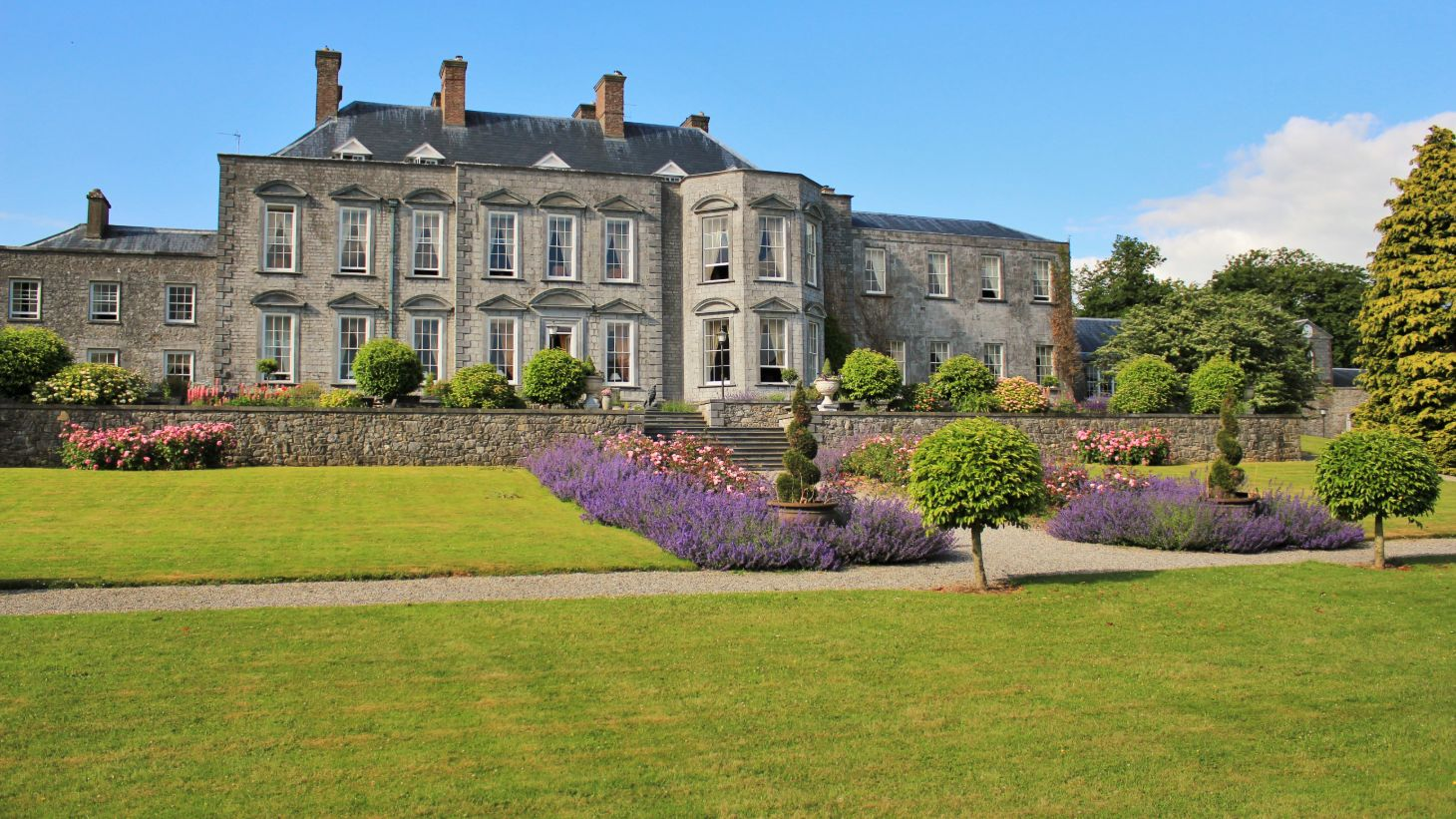 Enjoy the scenic gardens at Castle Durrow.