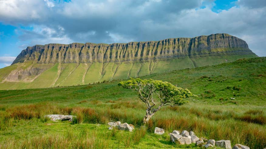 Benbulben is just one of the many great sights on this cycle in County Sligo.