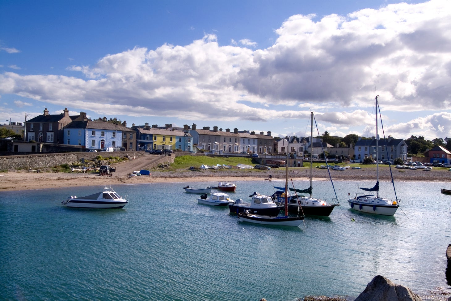 Watch the boats on the clear blue waters at Greystones Harbour.