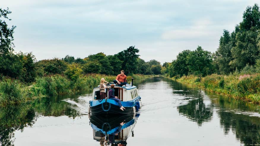 Set sail on The Grand Canal when you're in Kildare.