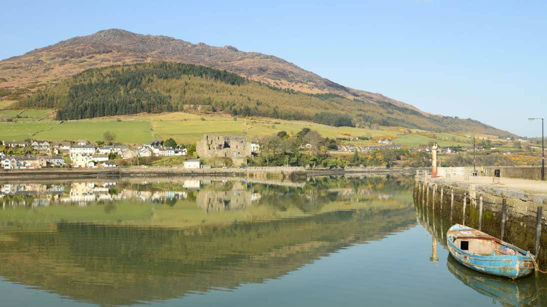 Water reflecting on a clear day at Slieve Foy, Carlingford, County Louth