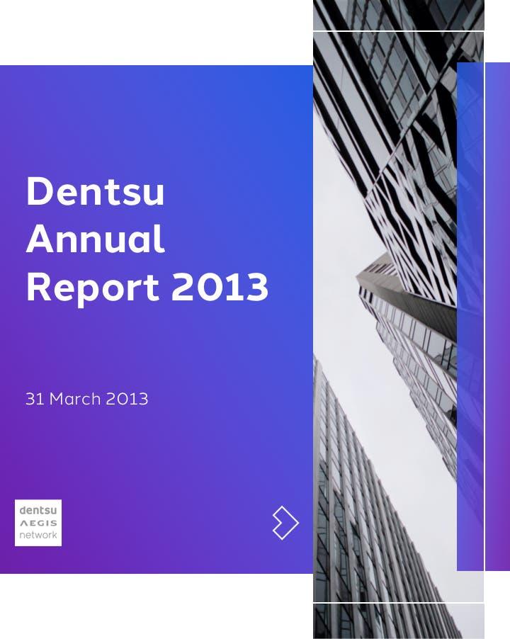 Dentsu Annual Report 2013