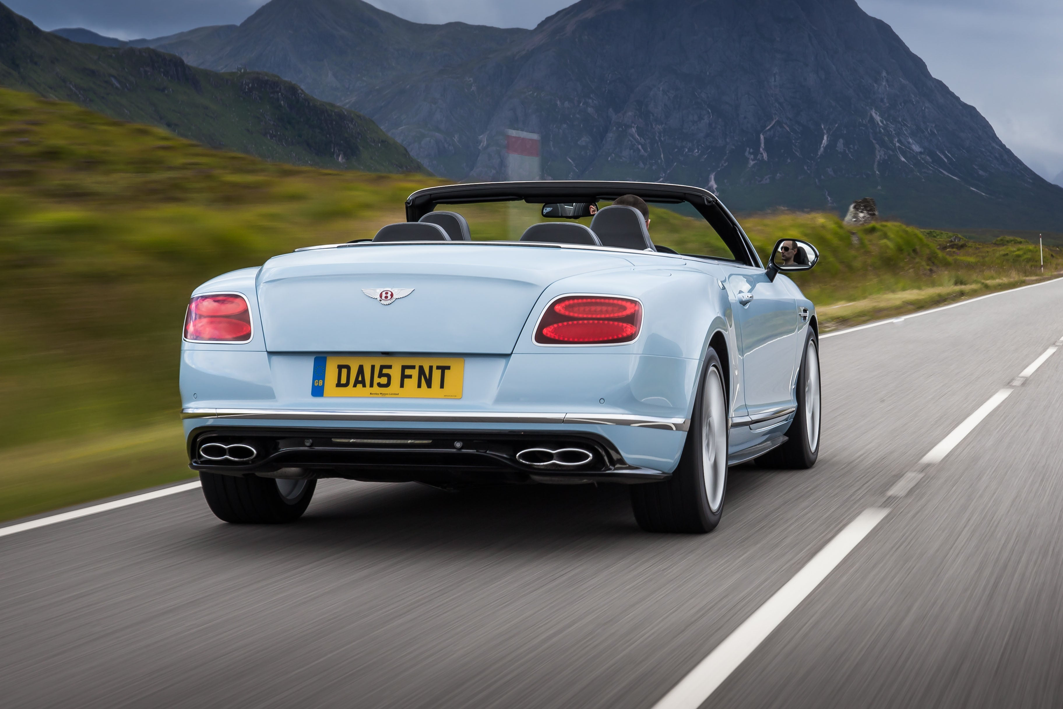 Bentley Continental GTC Driving Back