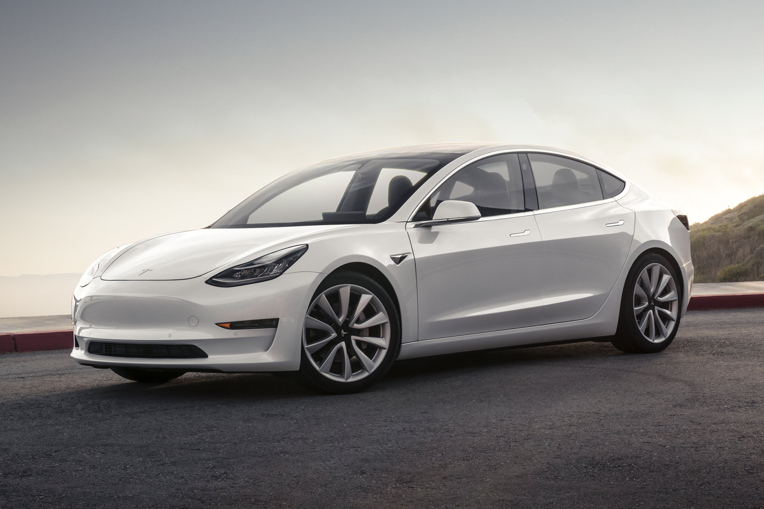 Tesla Model 3 Front Side View