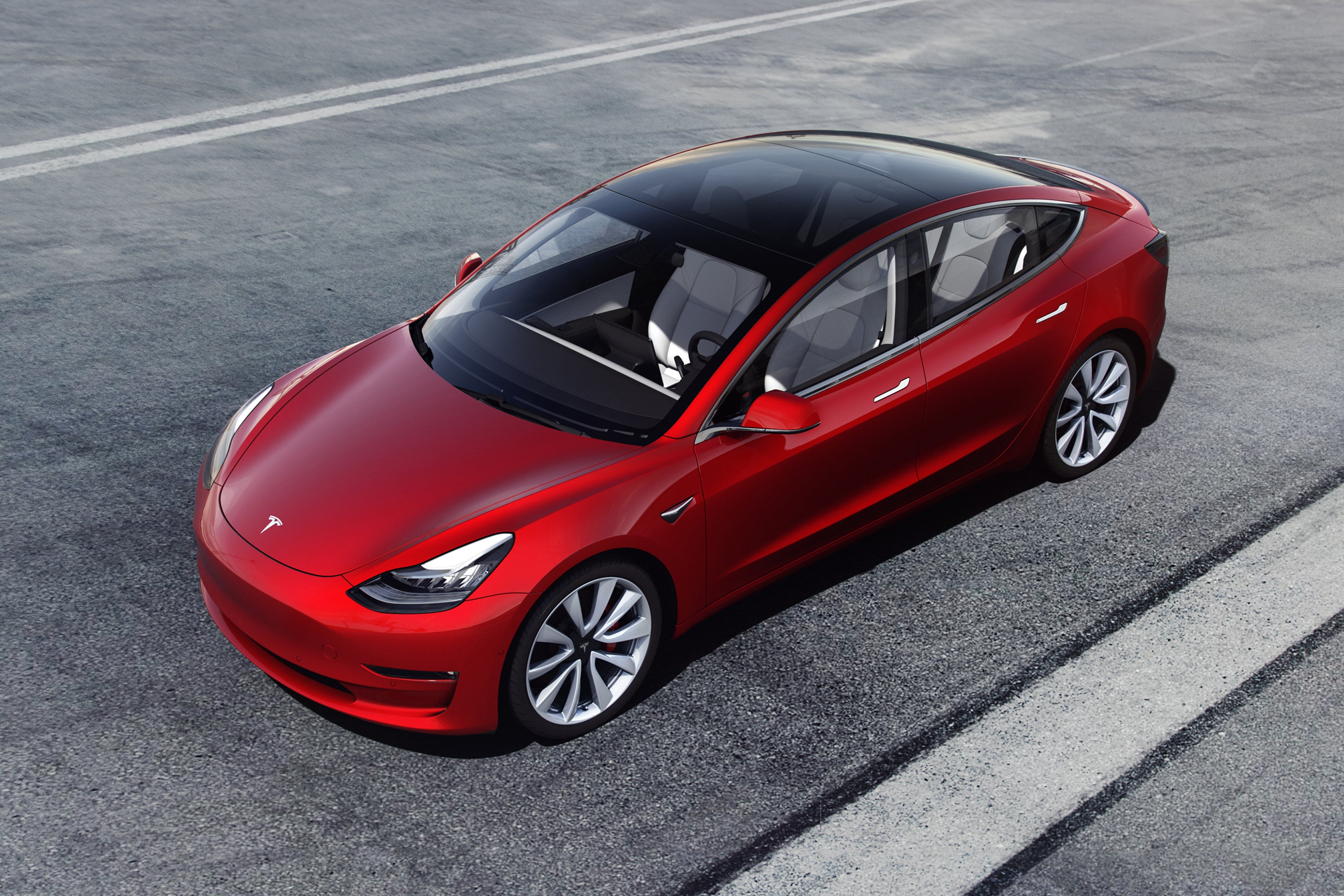 Tesla Model 3 Overhead View