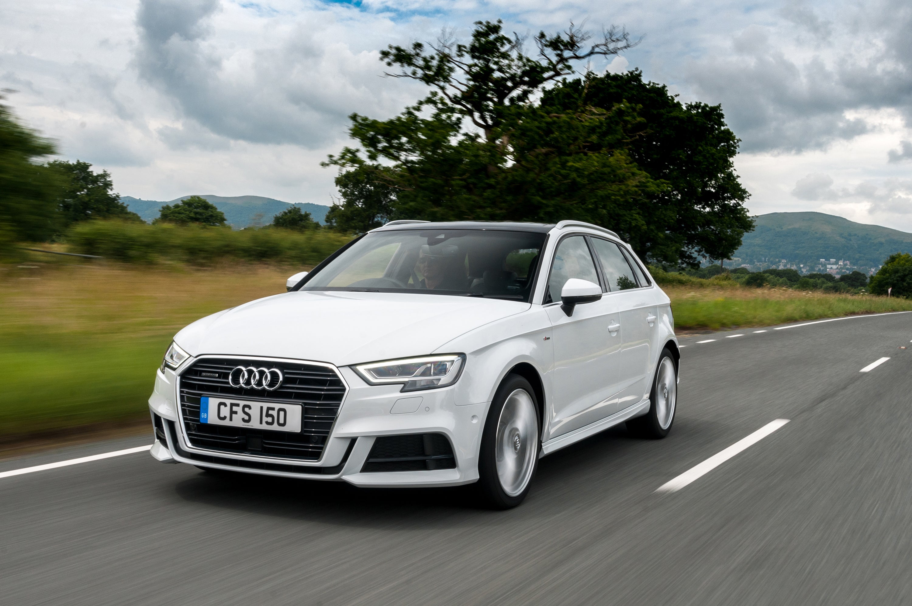 Audi A3 Sportback Driving Front