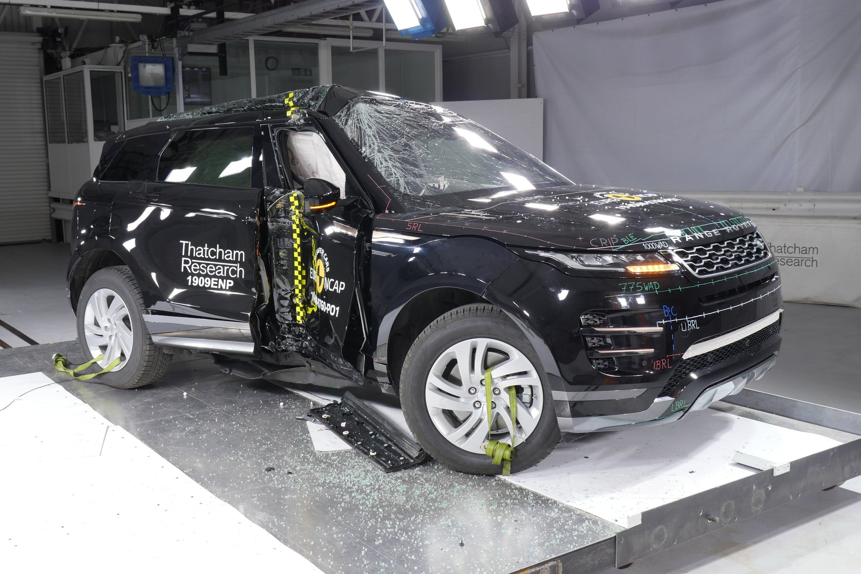 Range Rover Evoque Euro NCAP crash test