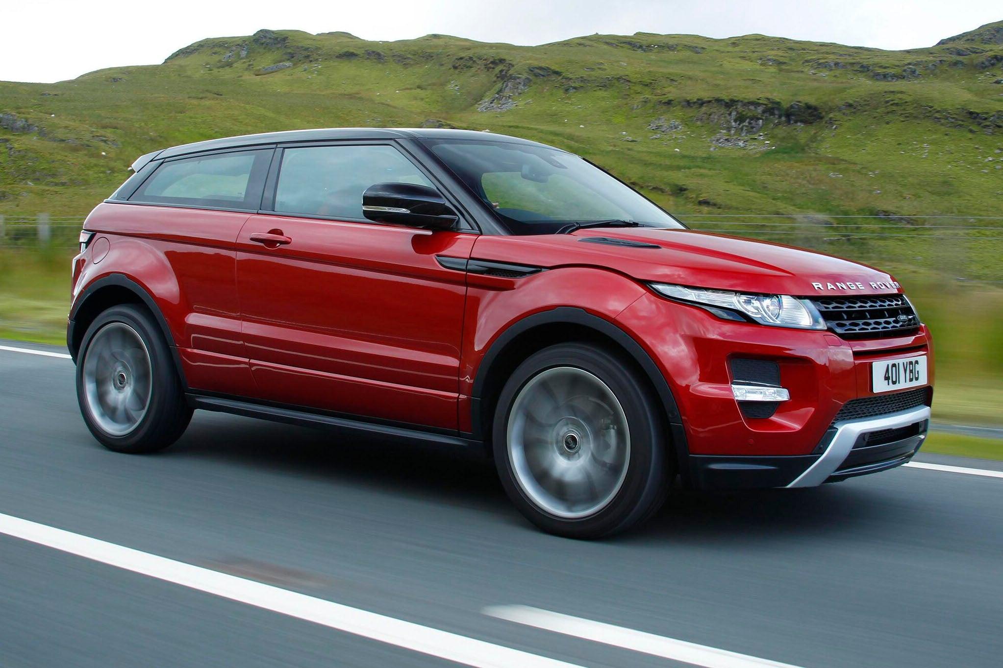 Range Rover Evoque Coupe on road