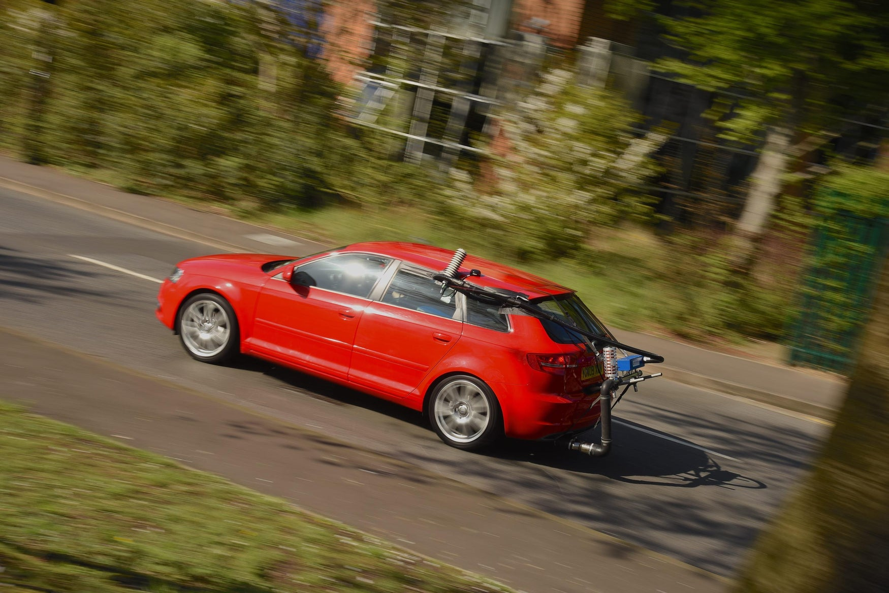 Audi A3 being tested for CO2 emissions