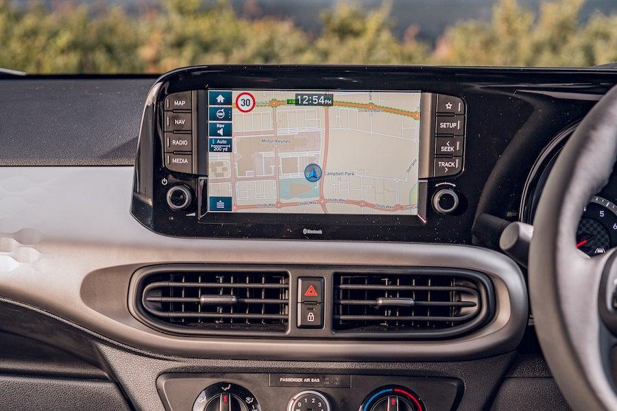 Hyundai i10 infotainment screen