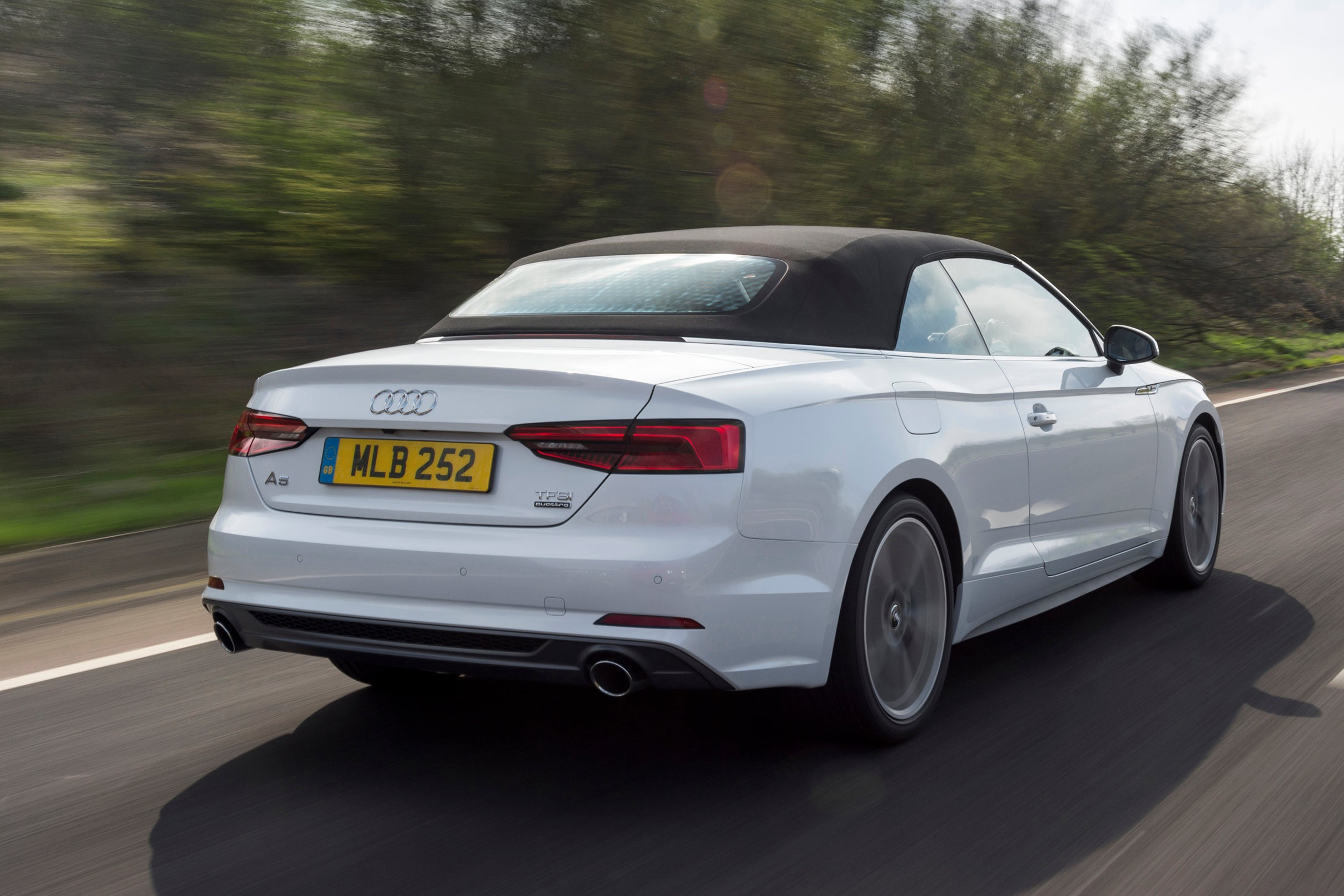 Audi A5 Cabriolet  Driving  Back