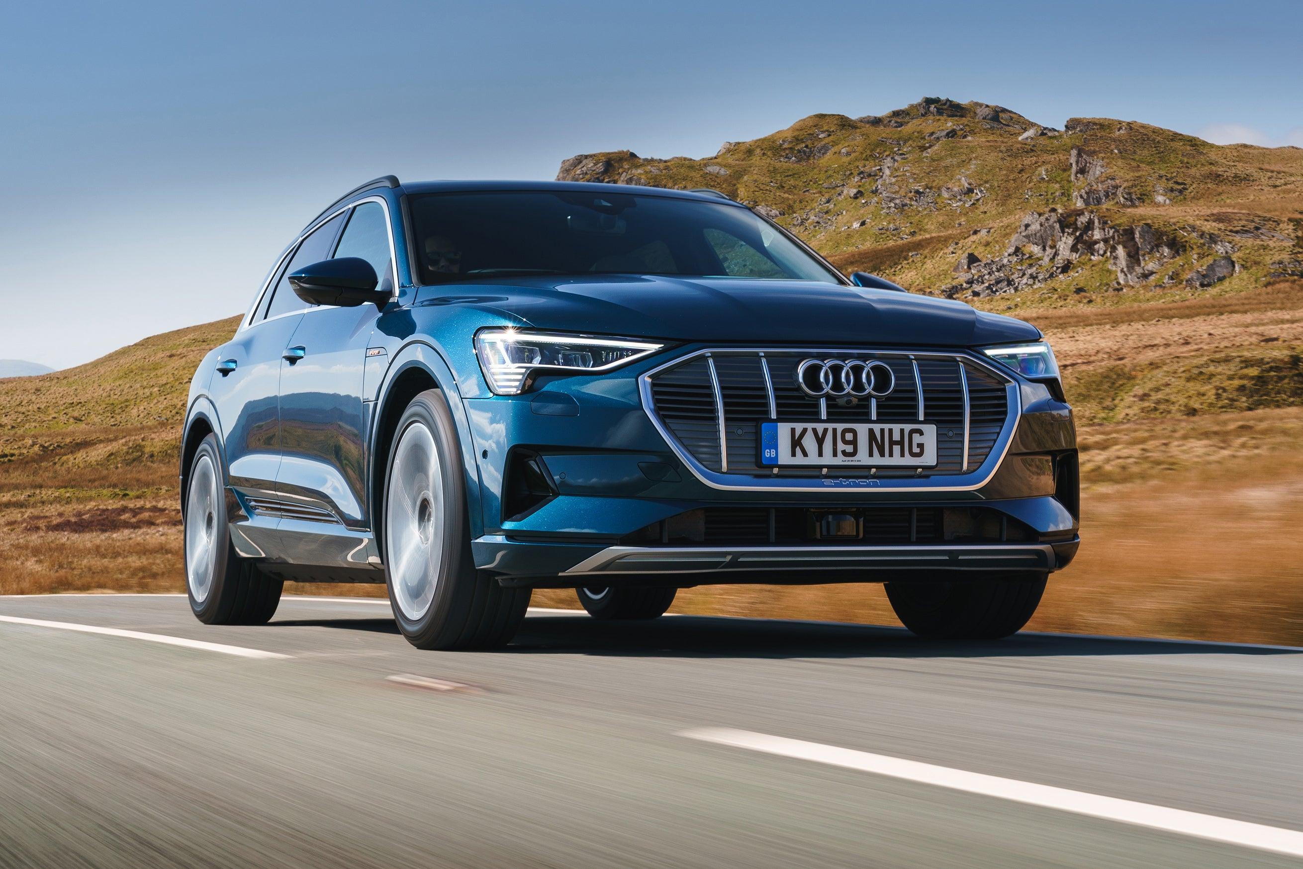 Audi e-tron Driving Front
