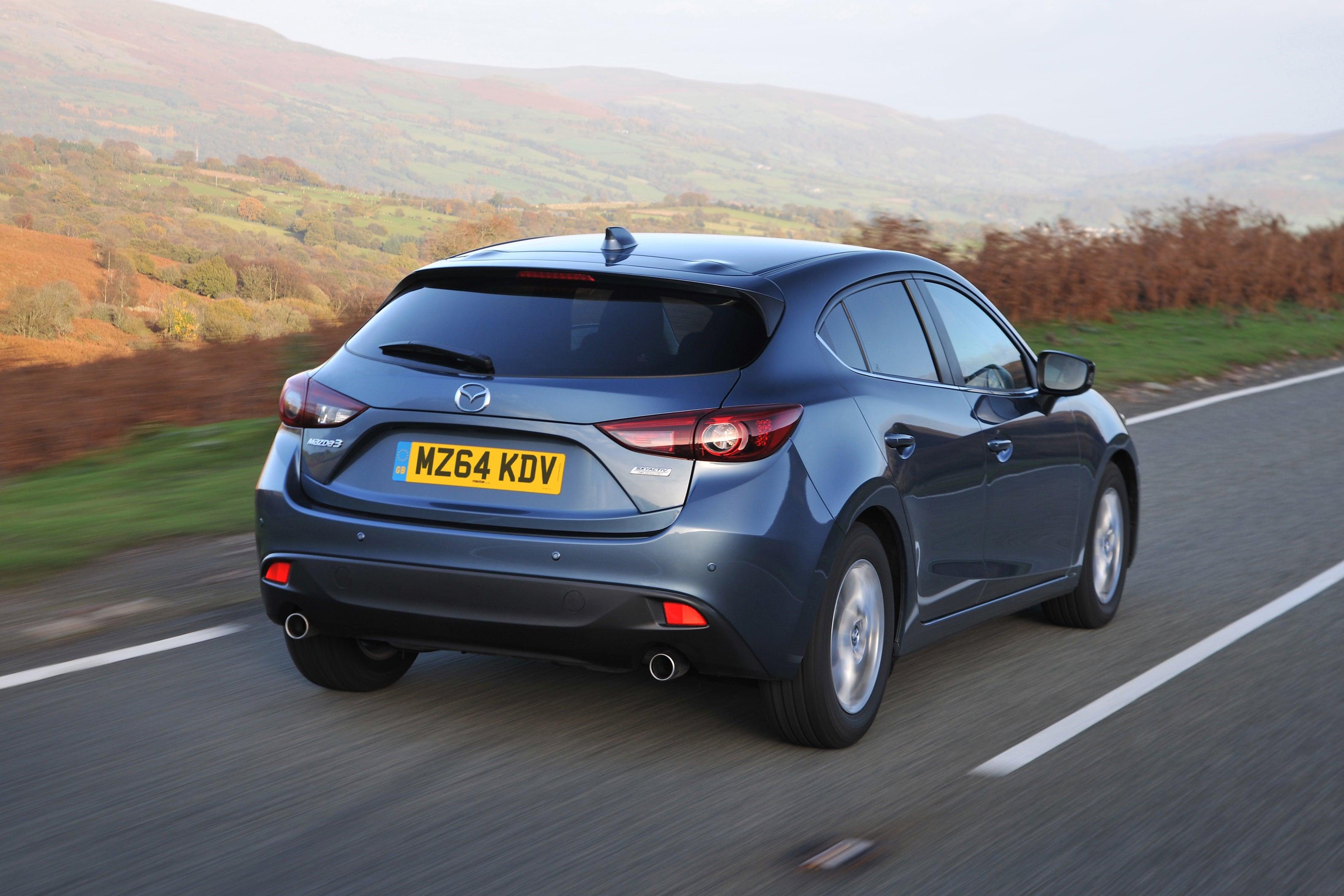 Mazda 3 rear driving