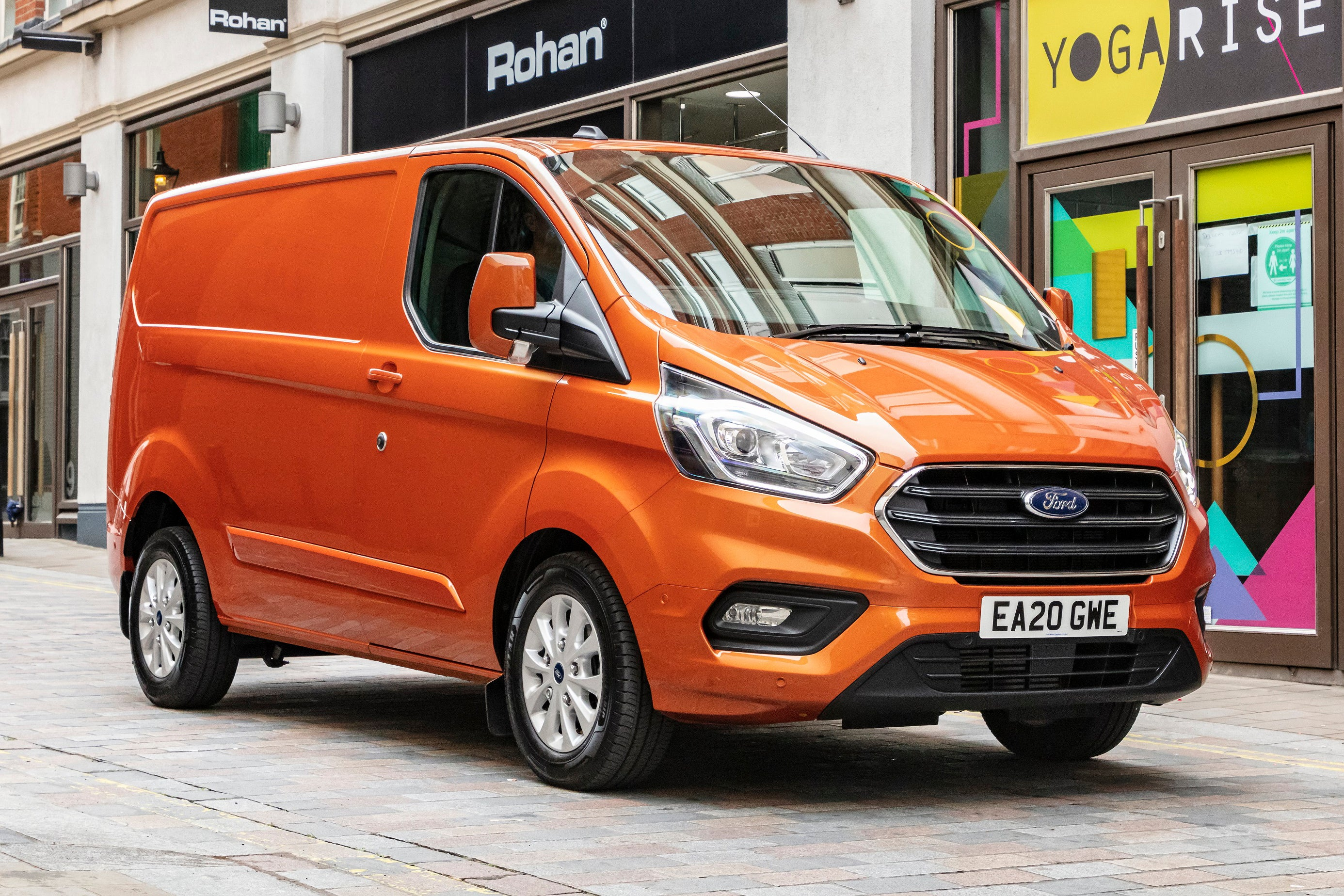 Ford Transit Custom in town