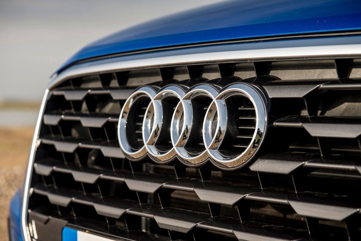 Audi badge on grile