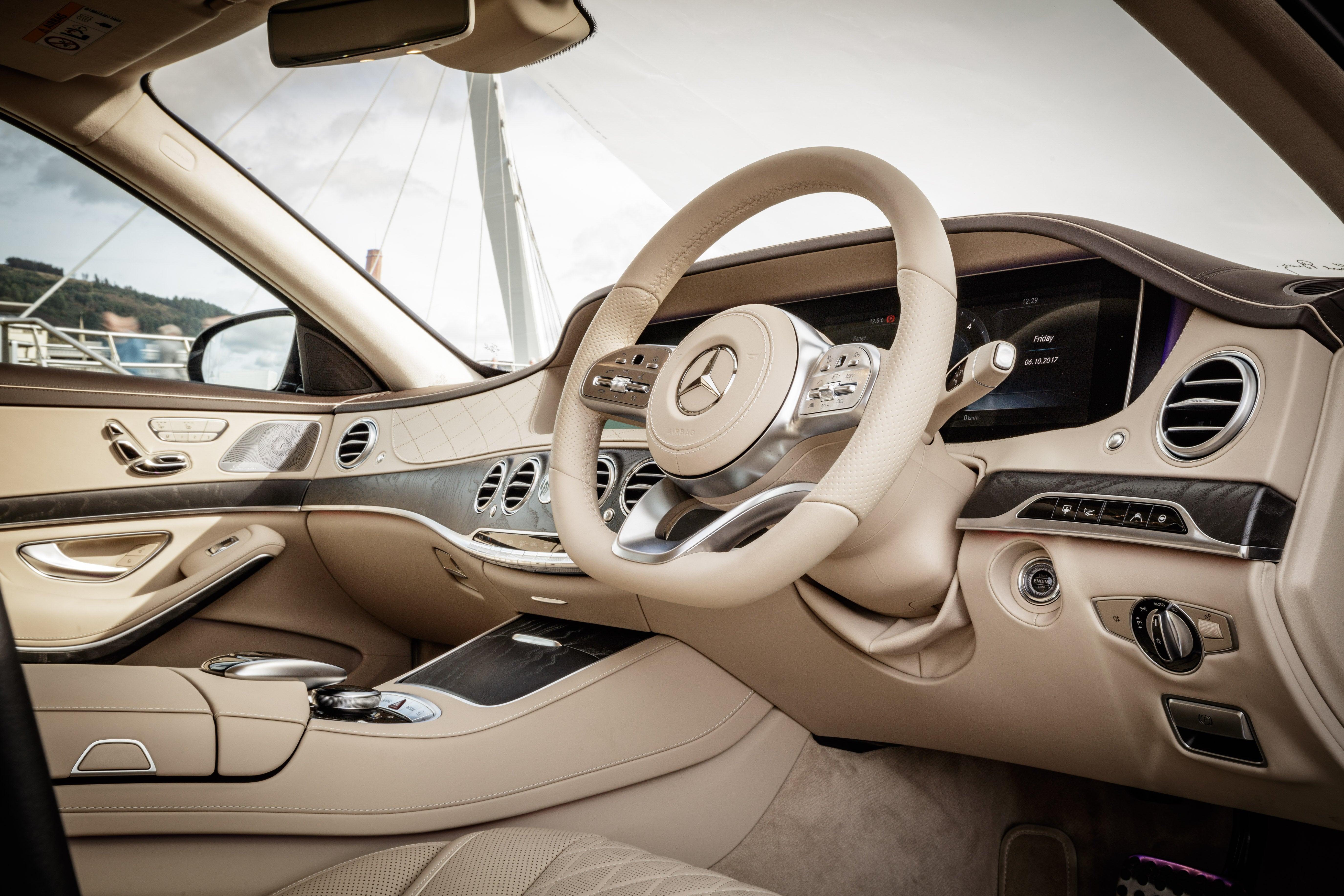 Mercedes S-Class front interior