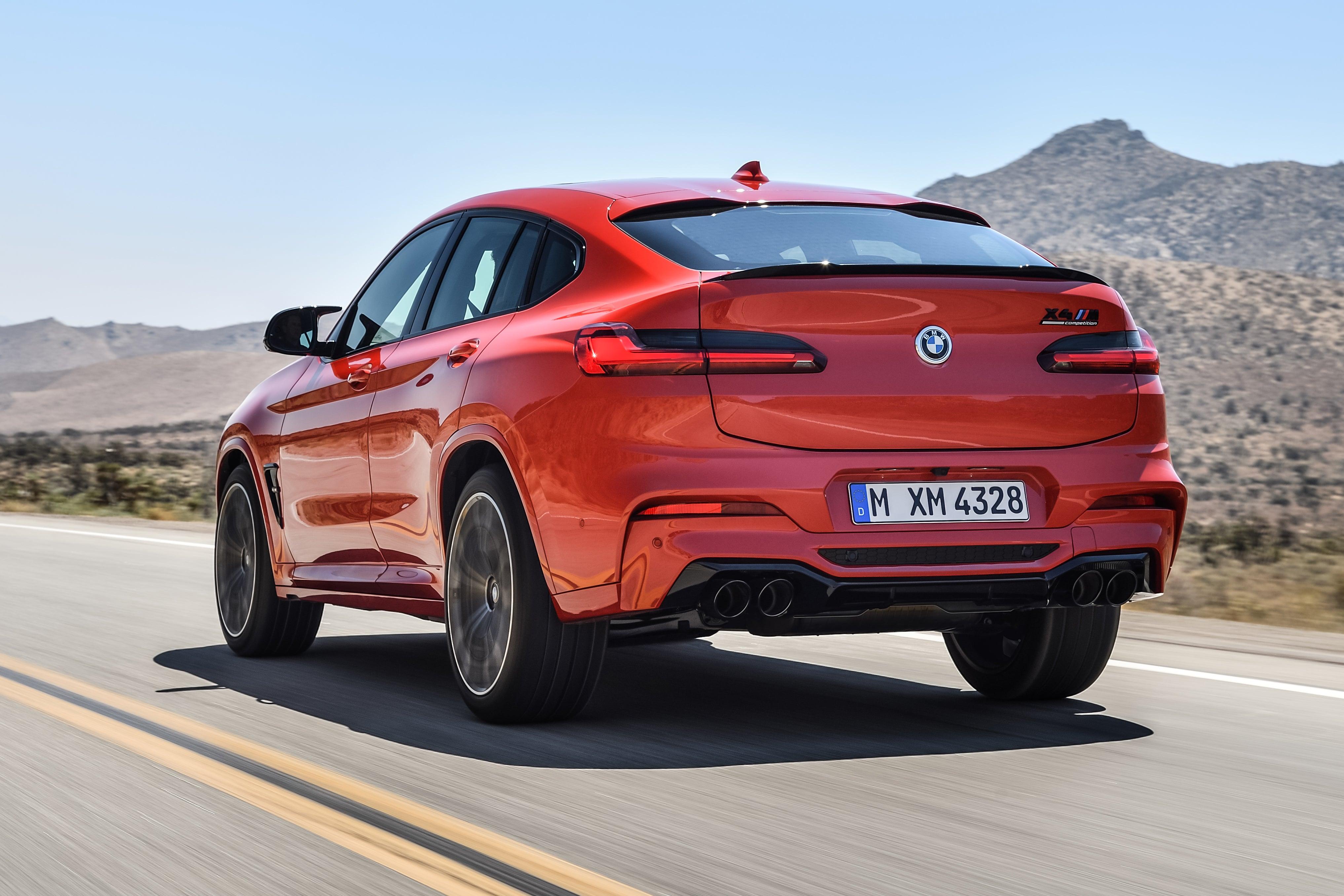 BMW X4 M Competition dynamic rear-three quarter