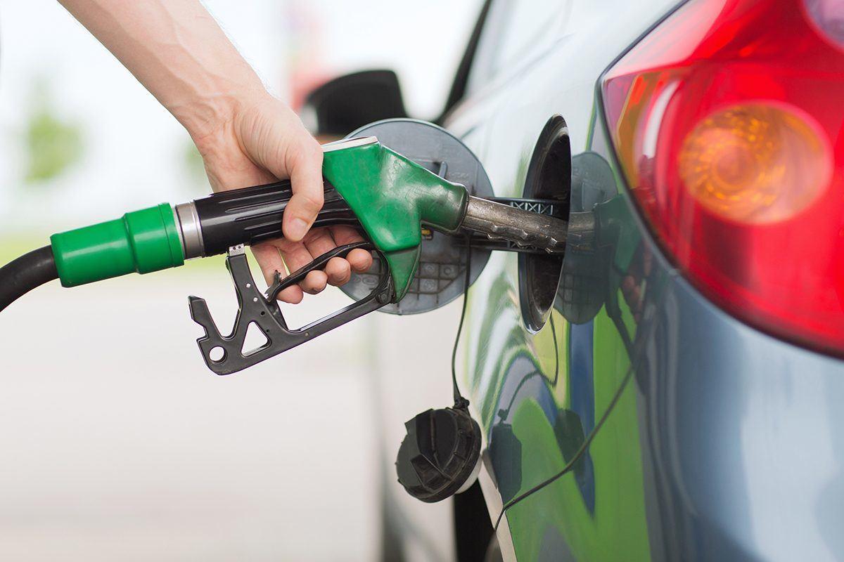 petrol pump unleaded