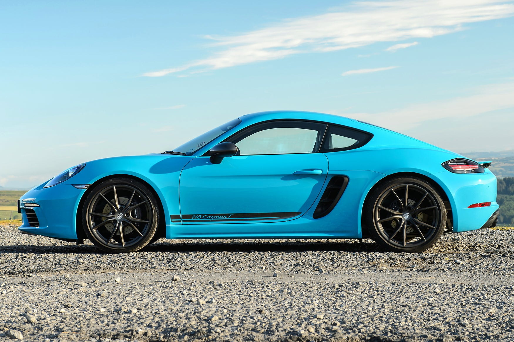 Porsche 718 Cayman Left Side View