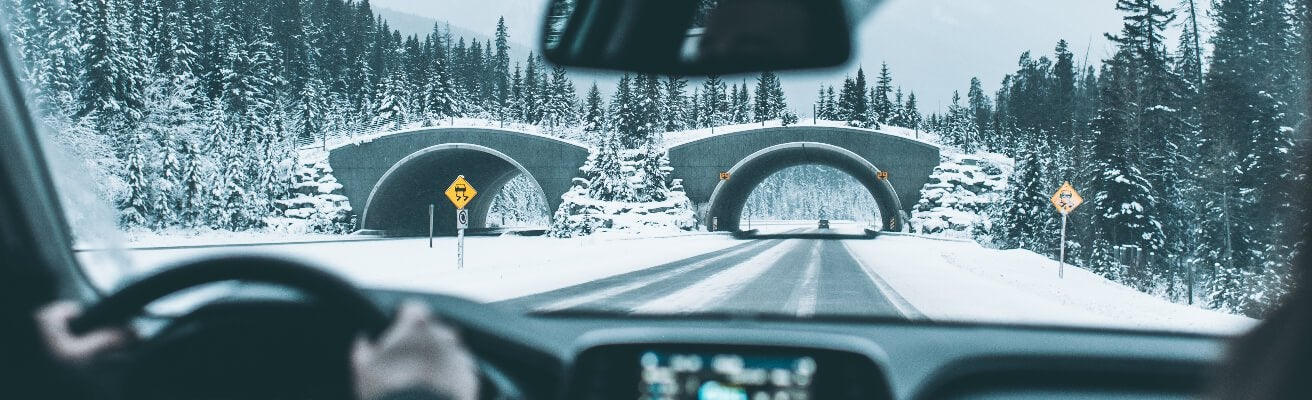 driving in winter snow