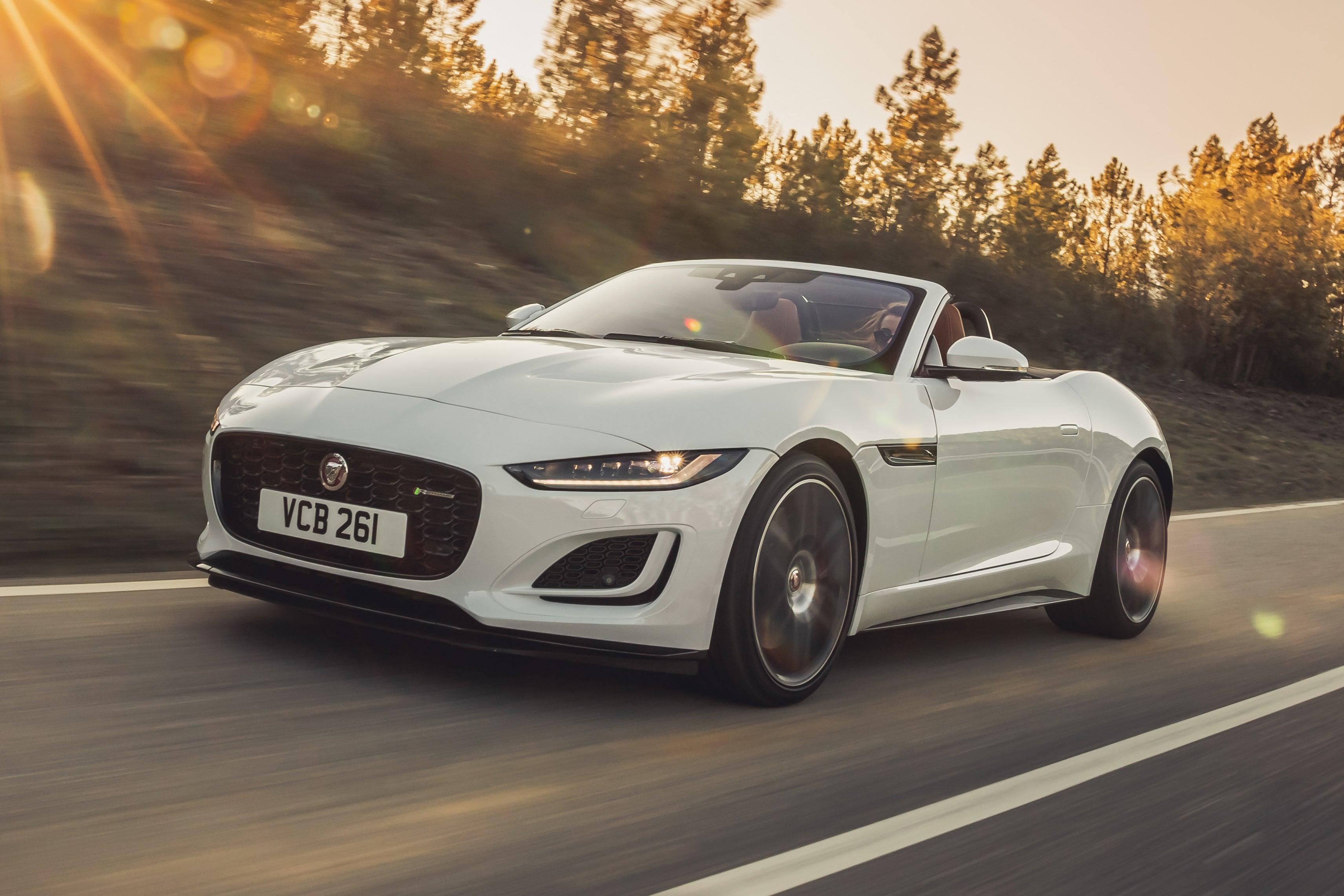 Jaguar F-Type Convertible white