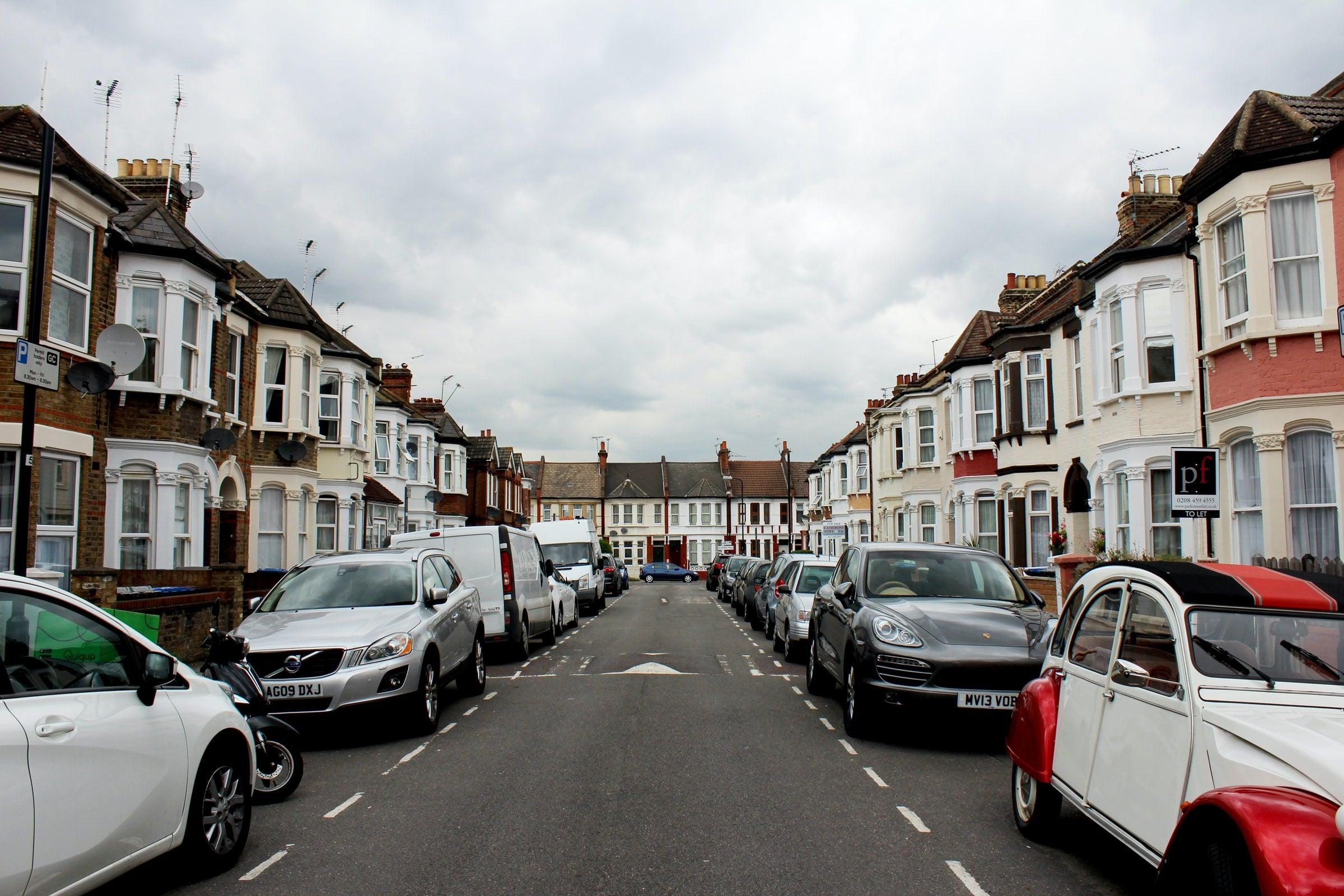 on road parking narrow street