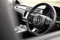 MG 5 EV interior steering wheel