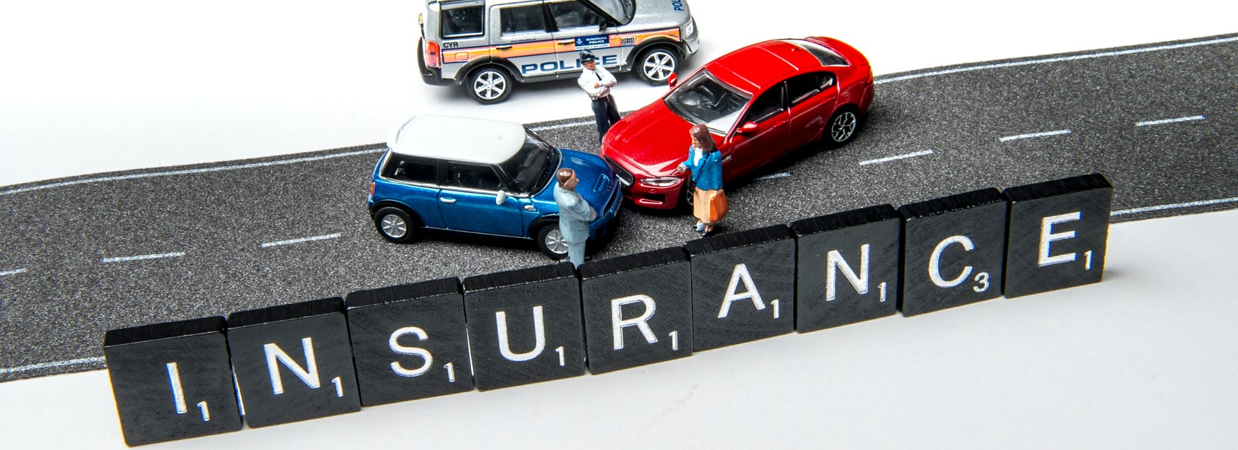 Insurance with toy cars