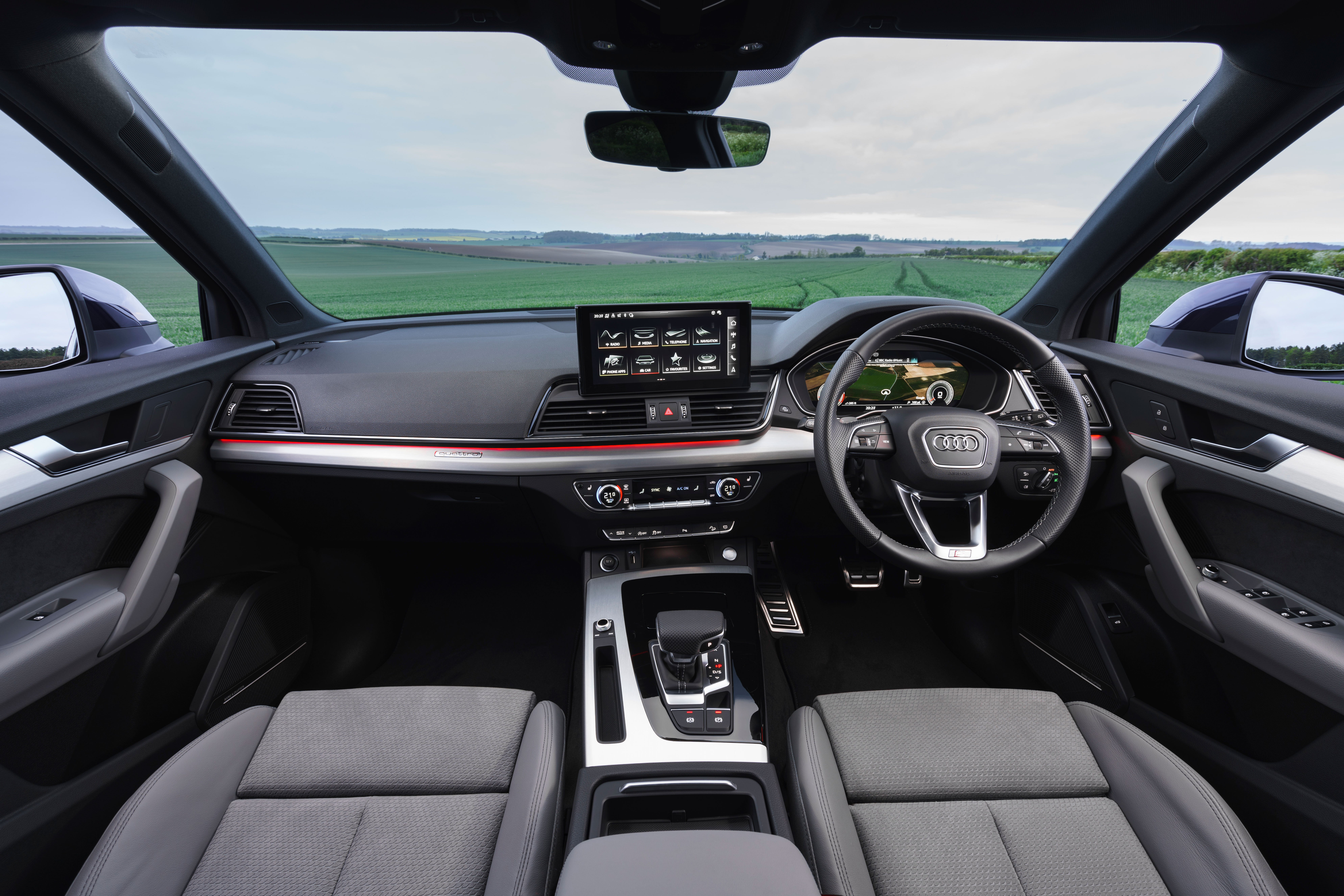 The interior of the Q2 Sportback is typical Audi plushness with lots of high quality and soft-touch materials