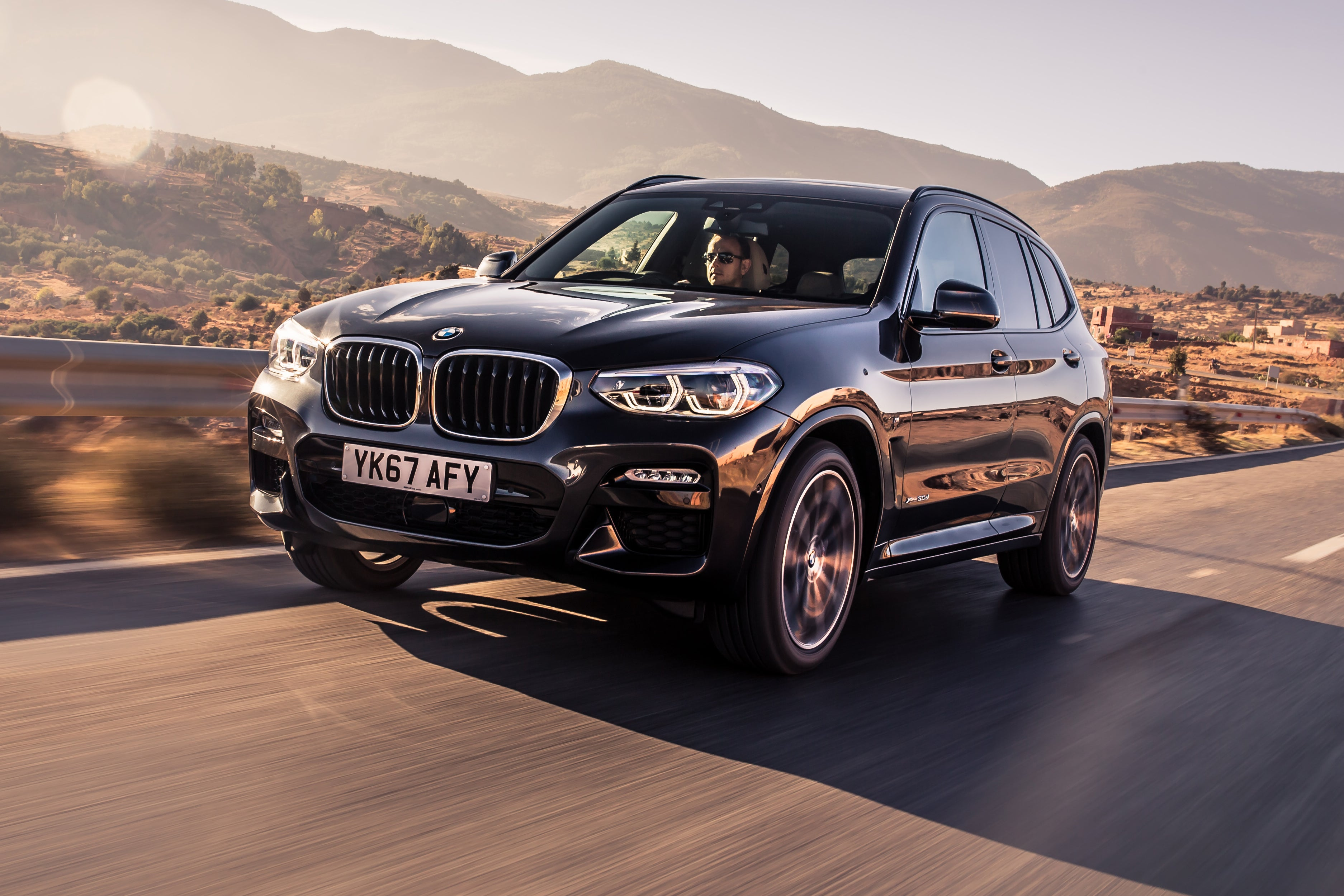 BMW X3 Driving Front
