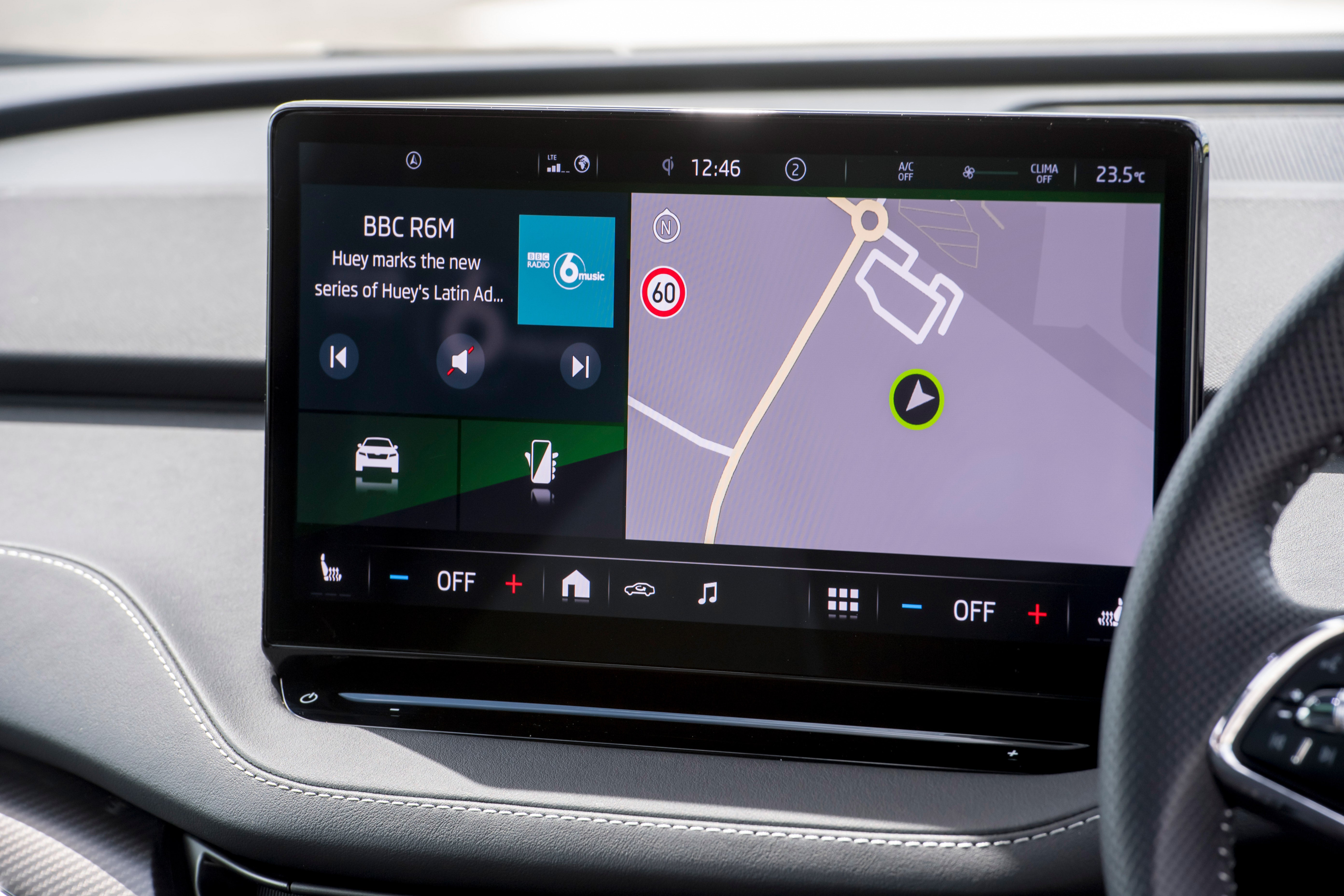 Skoda Enyaq iV Review 2021: interior navigation interface