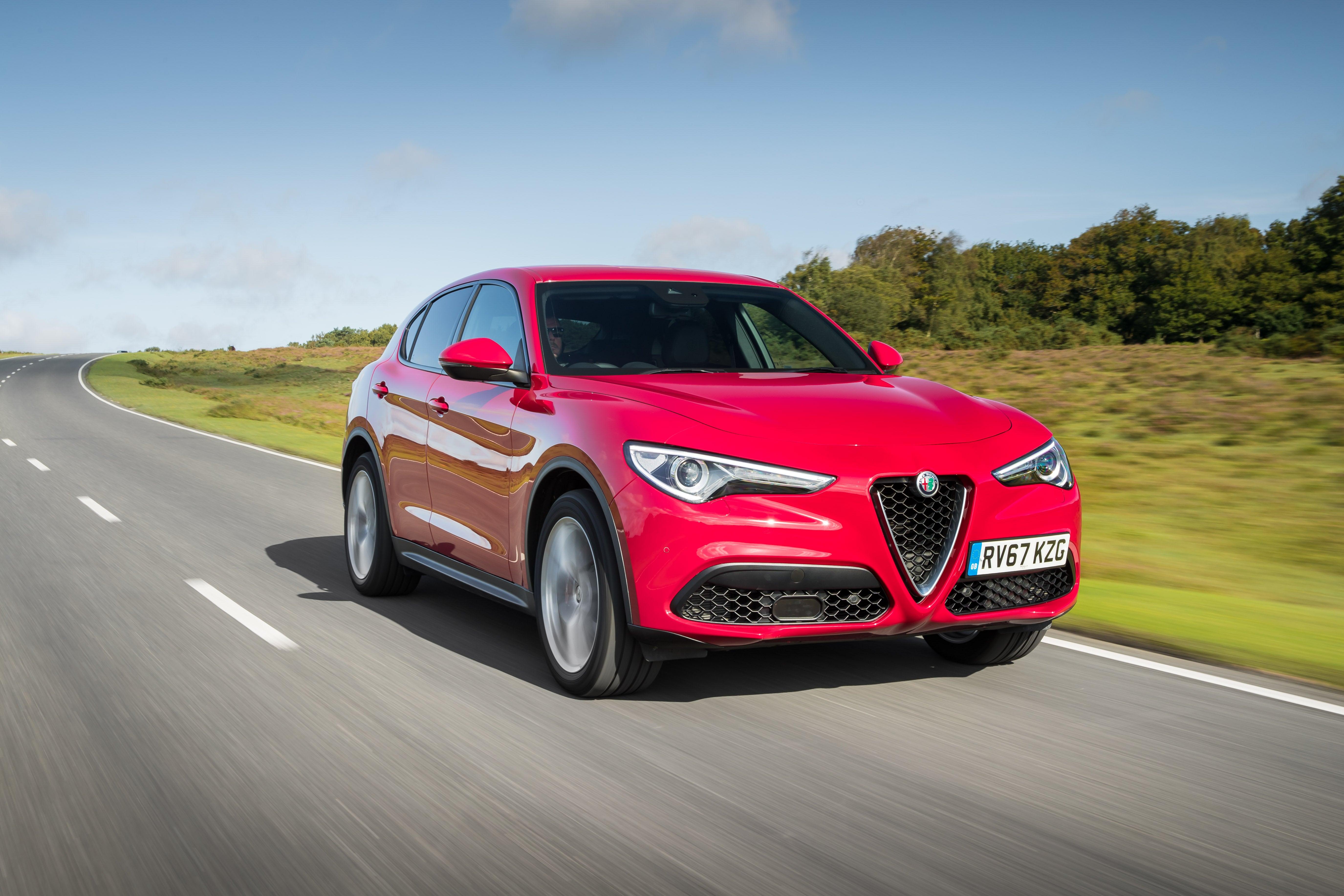 Alfa Romeo Stelvio Driving Front