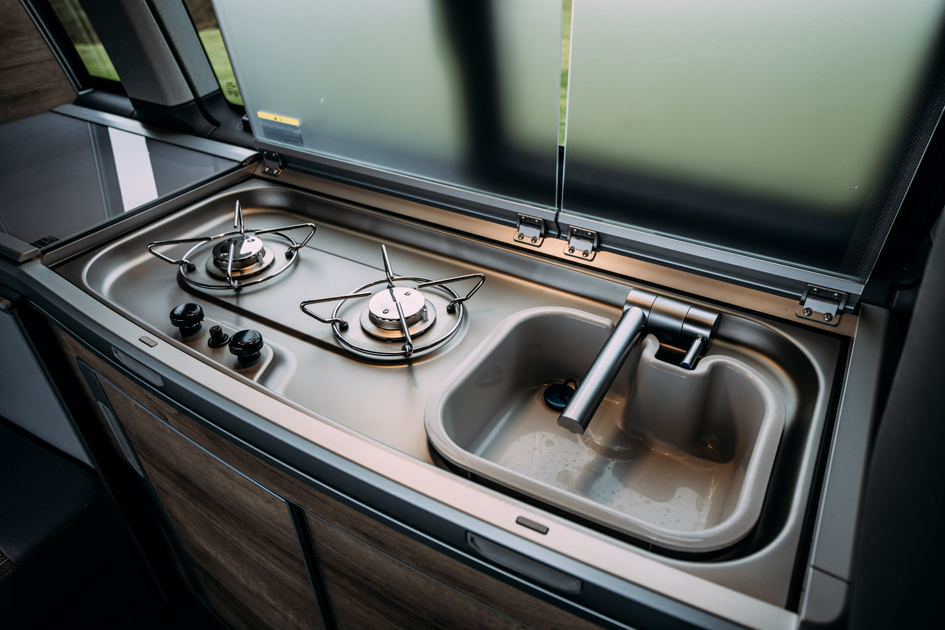 Volkswagen California interior sink hob