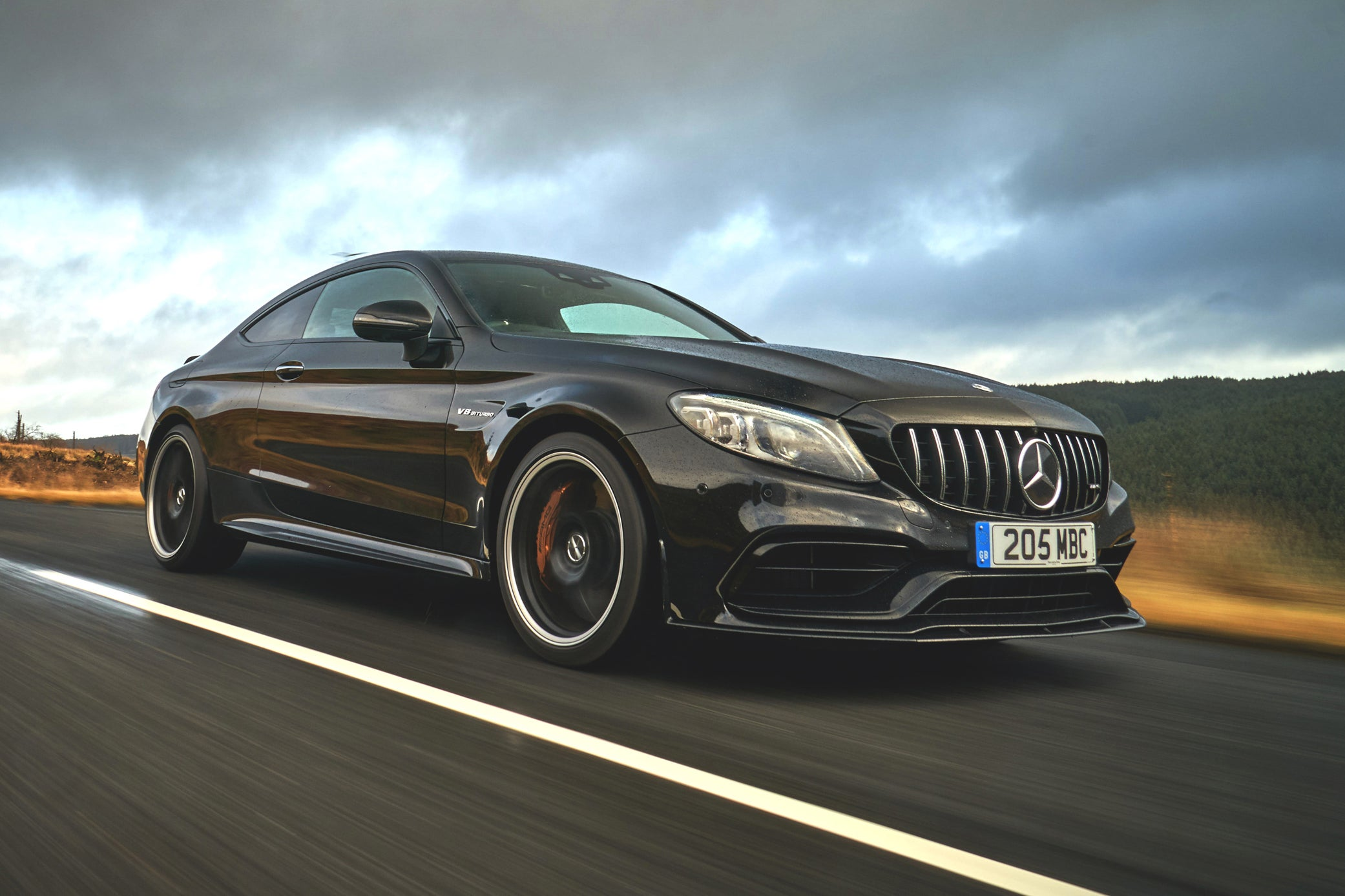 Mercedes AMG C 63 Coupe on road