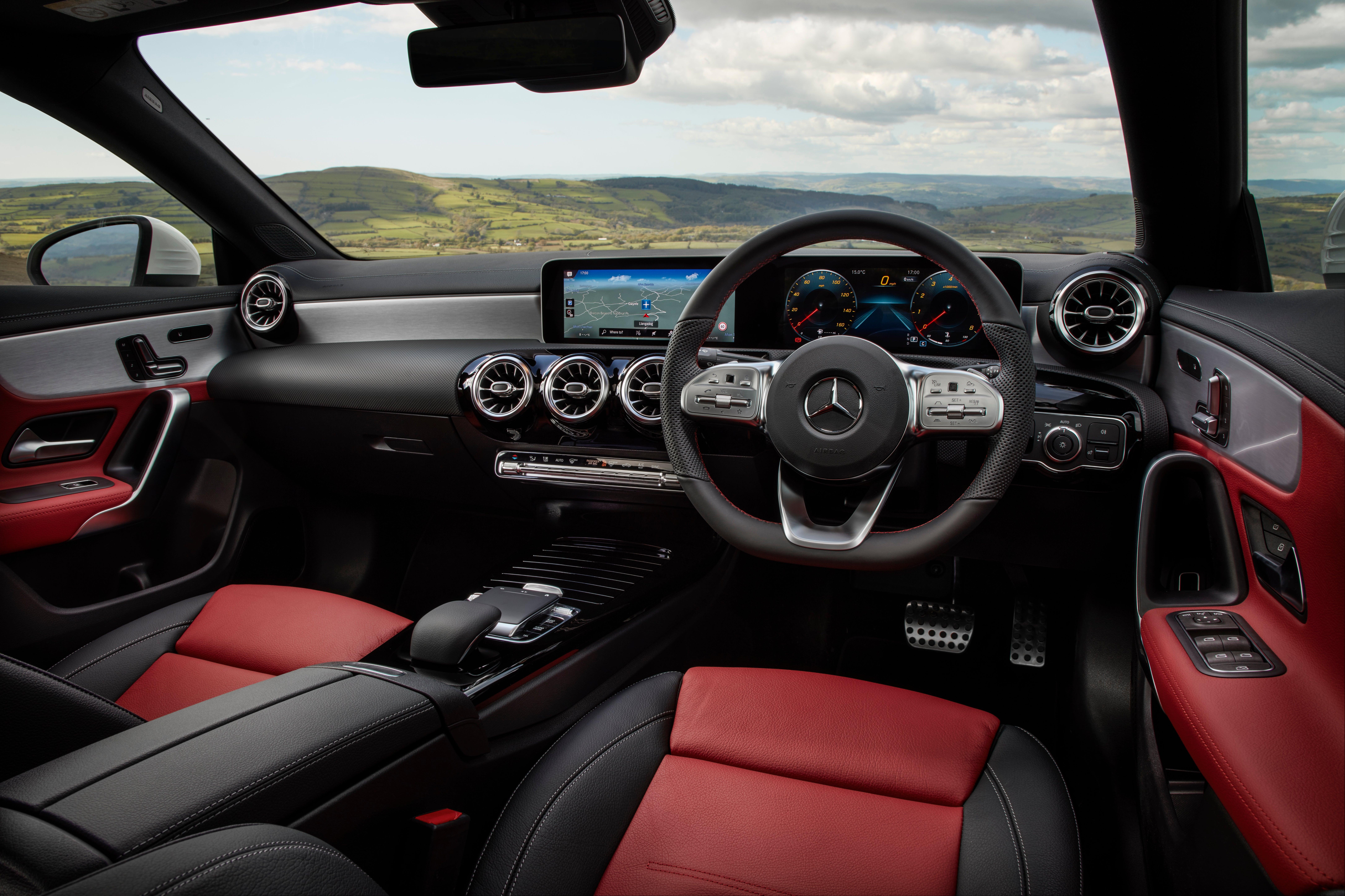 Mercedes CLA front interior