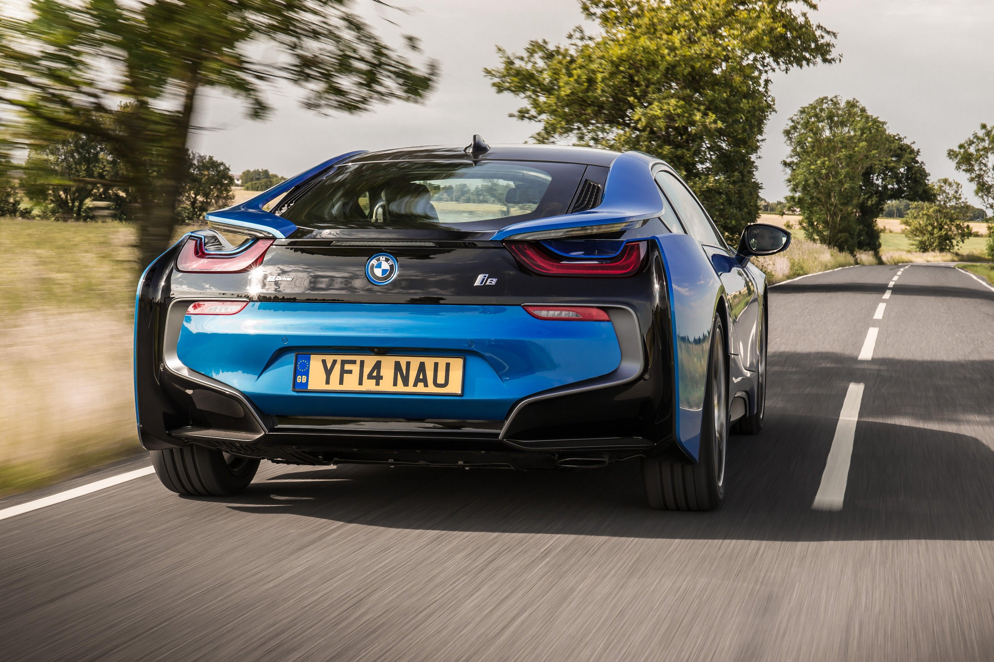 BMW i8 Driving Back