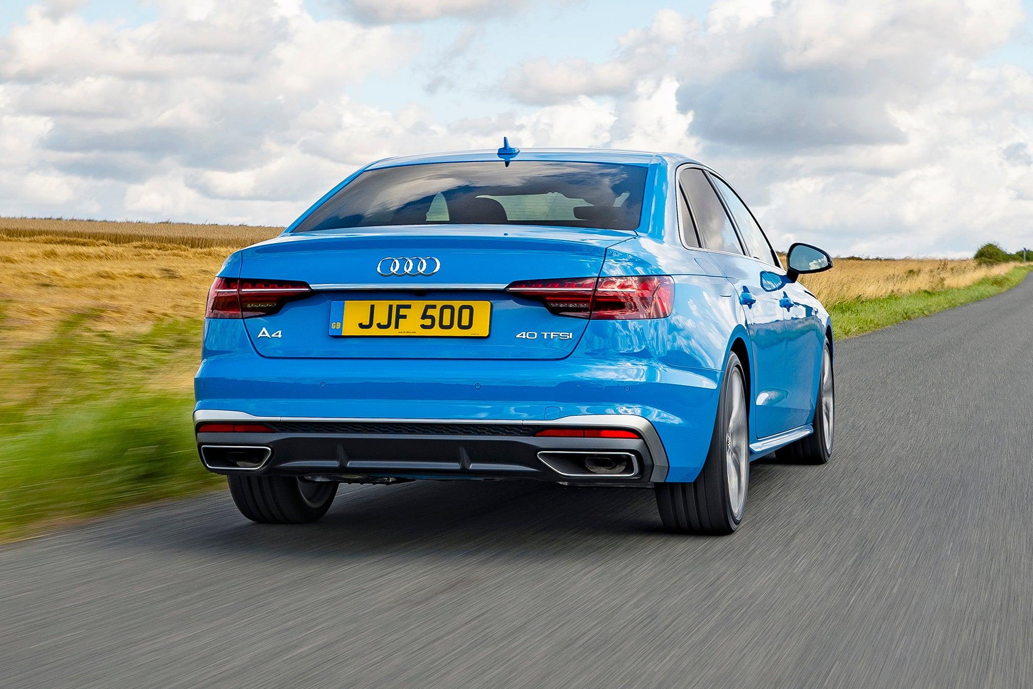 Audi A4 Driving Back