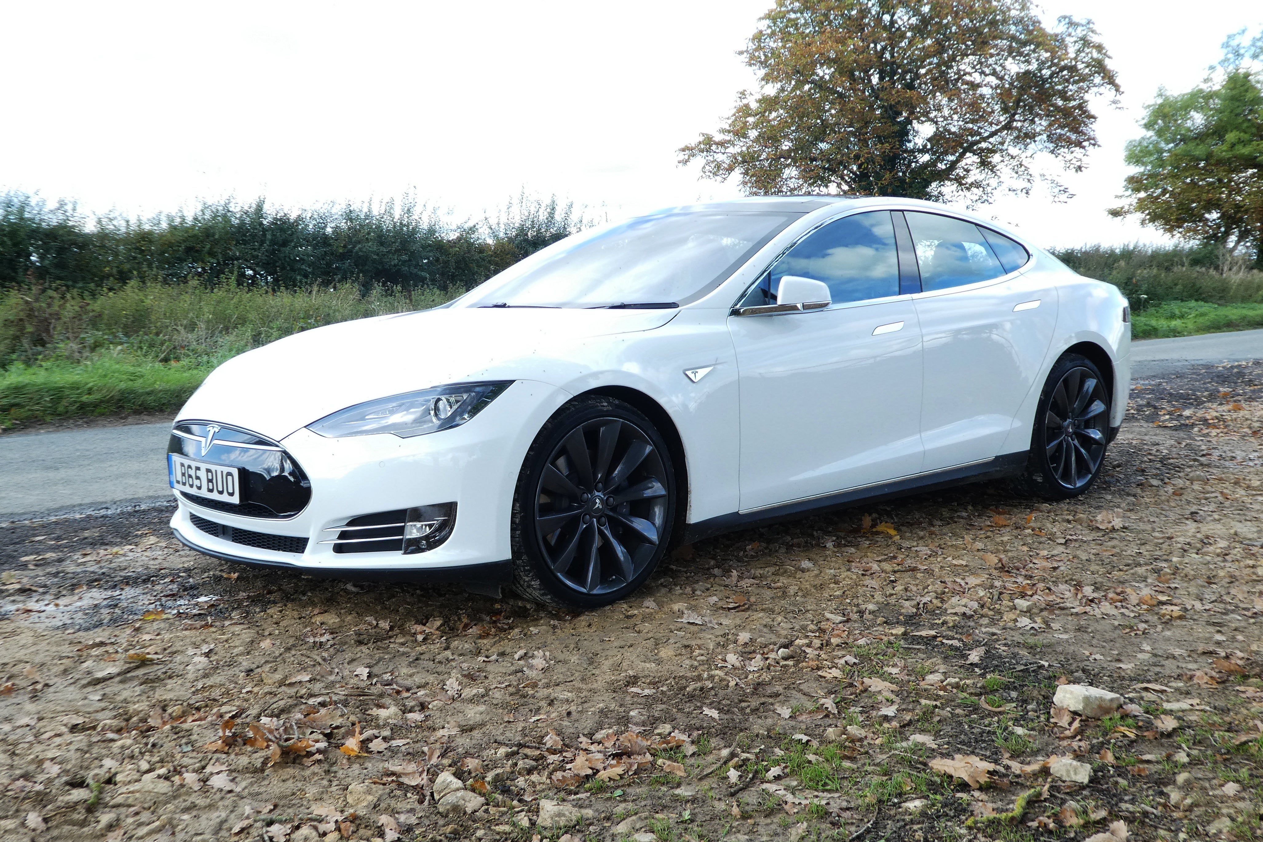 Tesla Model S Left Side View