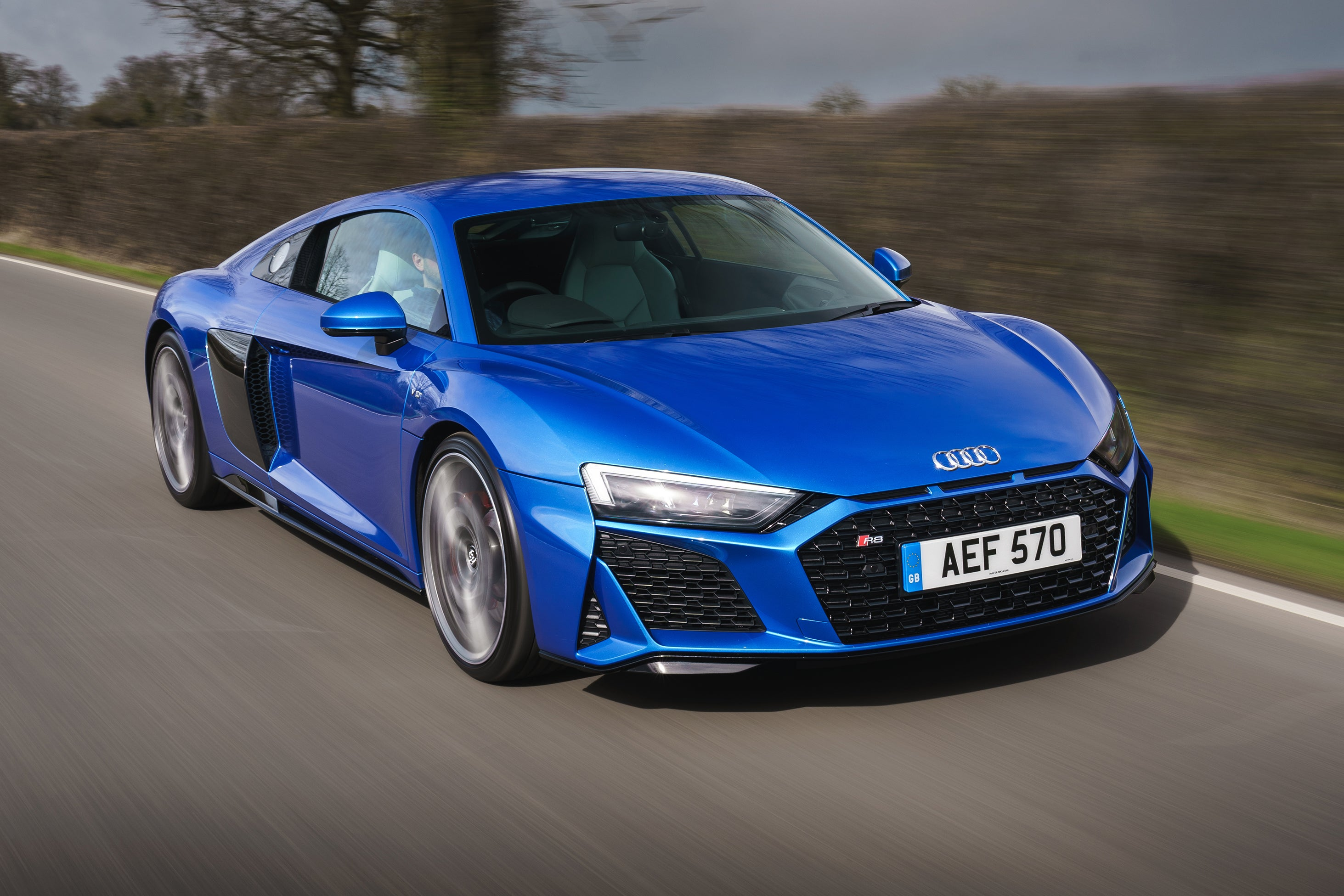 Audi R8 Driving Front