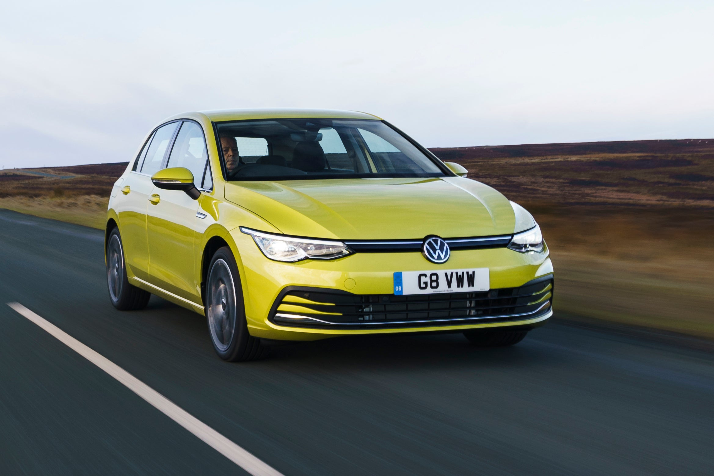 Volkswagen Golf front driving