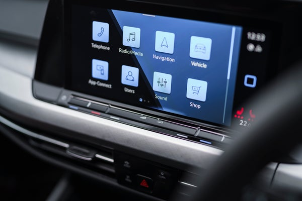 Volkswagen Golf Electric Infotainment